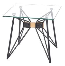 Kafijas galdiņš Halmar Allegra Black, 500x500x450 mm