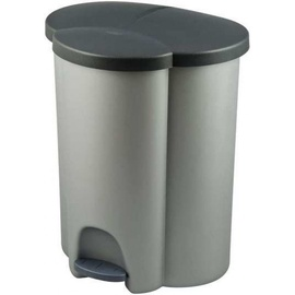 Curver Trio Recycling Pedal Bin 40l Silver