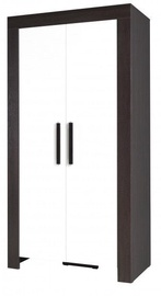 Jurek Meble Cezar Reg 2 Wardrobe Dark Brown/White