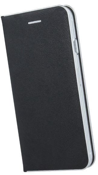 TakeMe Metal Edge Shine Book Case For Apple iPhone XR Black