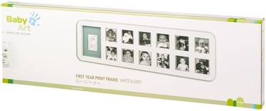 Baby Art First Year Print Frame White & Grey