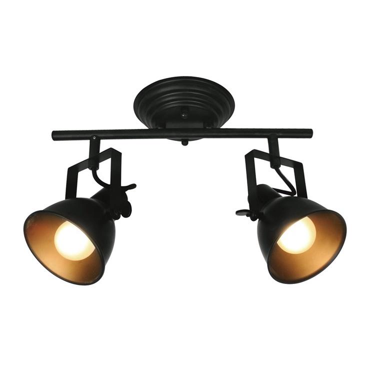 Gaismeklis Easylink R50111102-2TU 2x40W Black