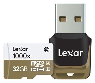 Lexar 32GB Micro SDHC UHS-II 1000x U3 Class 10 + USB Reader