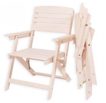 Folkland Timber Folding Garden Set Heini 2 White