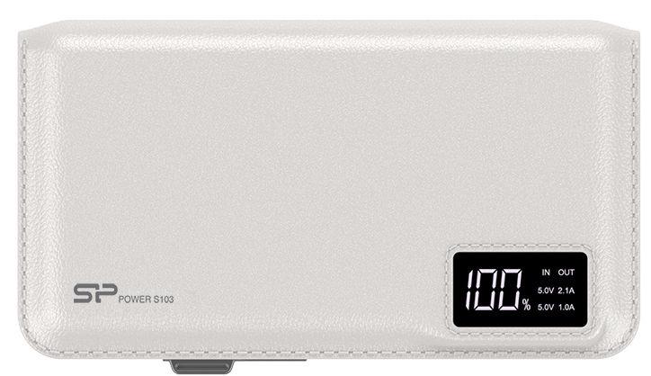 Ārējs akumulators Silicon Power S103 White, 10000 mAh