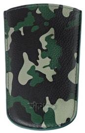 Ceļojuma maks Zippo Leather Key Wallet Camo Green, melna/zaļa