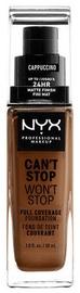 Tonizējošais krēms NYX Can't Stop Won't Stop CSWSF17 Cappuccino, 30 ml