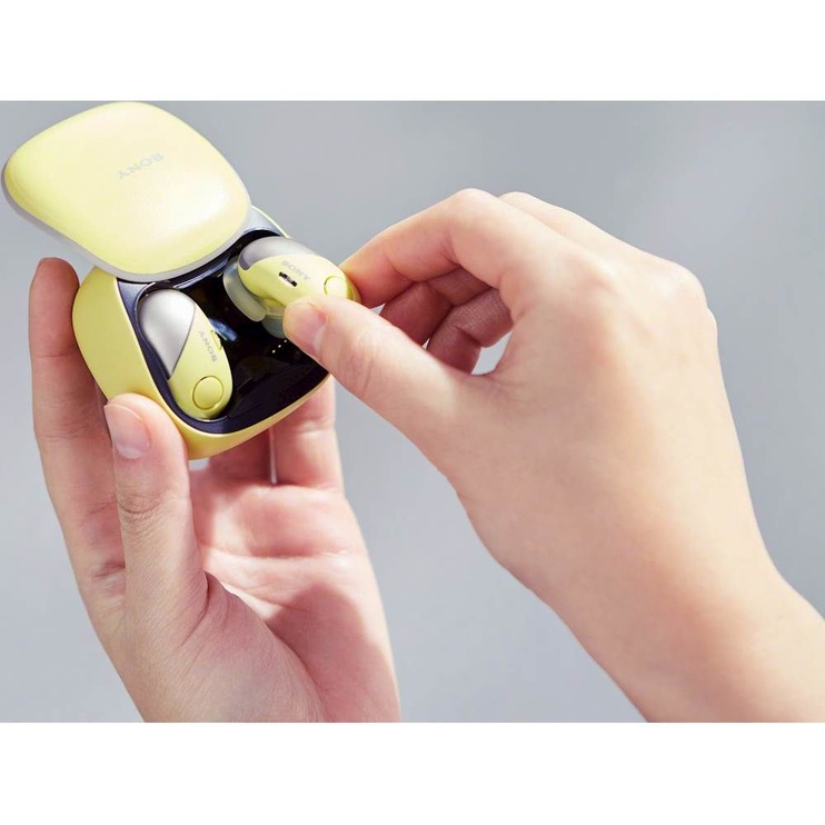 Bezvadu austiņas Sony WF-SP700N/Y Yellow