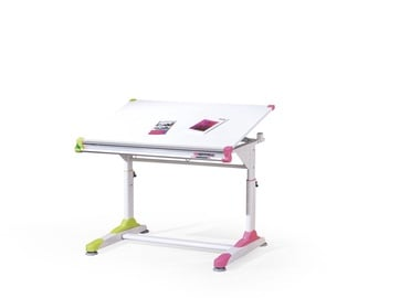 Halmar Collorido Adjustable Desk White/Green/Pink