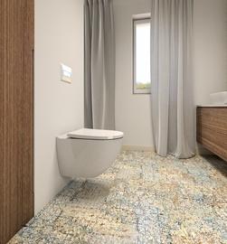 Sienas tualete Ravak Optima RimOff, ar vāku, 530x440 mm