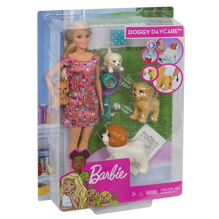 Mattel Barbie Doggy Daycare Doll And Pets FXH08