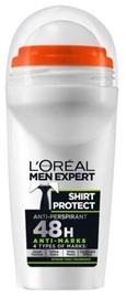 Vīriešu dezodorants L´Oreal Paris Men Roll On Shirt Protect, 50 ml