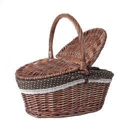 Home4you Olaf Picnic Basket 44x31xH17/39cm Brown