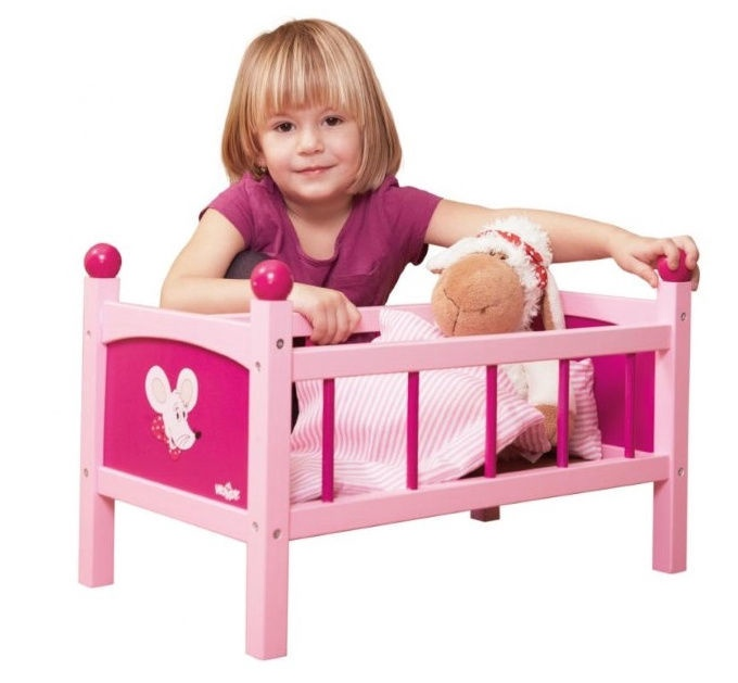 Woodyland Trendy Pink Doll Bed 91300