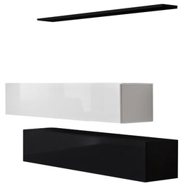 ASM Switch SB II Hanging Cabinet/Shelf Set Black/White