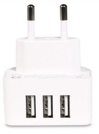 Remax RP-U31 Premium 3x USB Travel Charger 2.1A/1A/1A White
