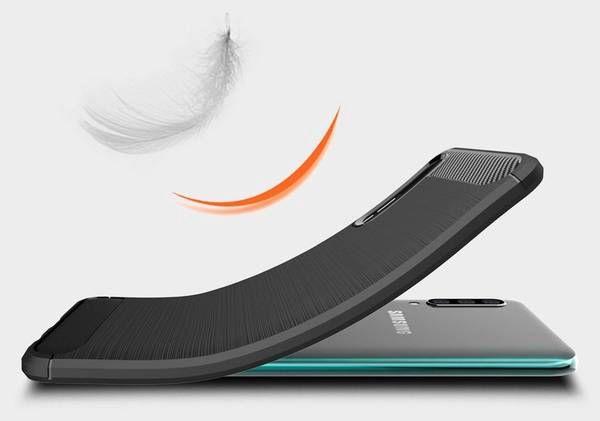Hurtel Carbon Back Case For Samsung Galaxy A50 Black