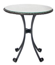 Садовый стол Home4you Wicker 11890, коричневый, 70 x 70 x 74 см