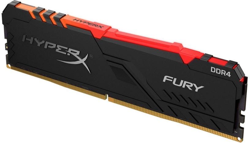 Operatīvā atmiņa (RAM) Kingston HyperX Fury Black RGB HX426C16FB3A/8 DDR4 8 GB CL16 2666 MHz