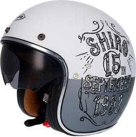 Shiro Helmet SH-235 Born Matt White S