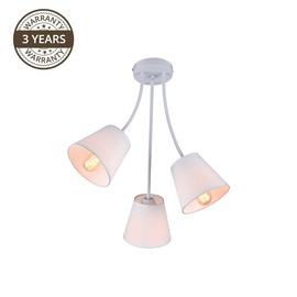 Gaismeklis Domoletti Karina MX53040D-3 Ceiling Lamp 3x40W E27 White
