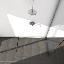 Tece Shower Channel Set 2in1 Plate/Steel 90cm