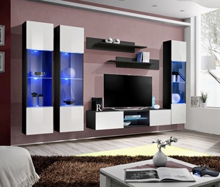 Dzīvojamās istabas mēbeļu komplekts ASM Fly P3 White/Black