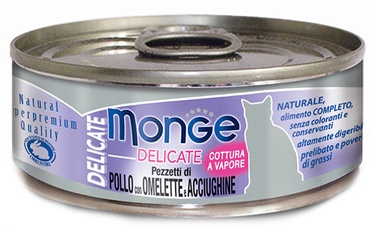 Monge Delicate Chicken With Omelette & Anchovies 80g