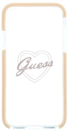 Guess Shock Proof Hard Back Case For Apple iPhone X Transparent/Pink