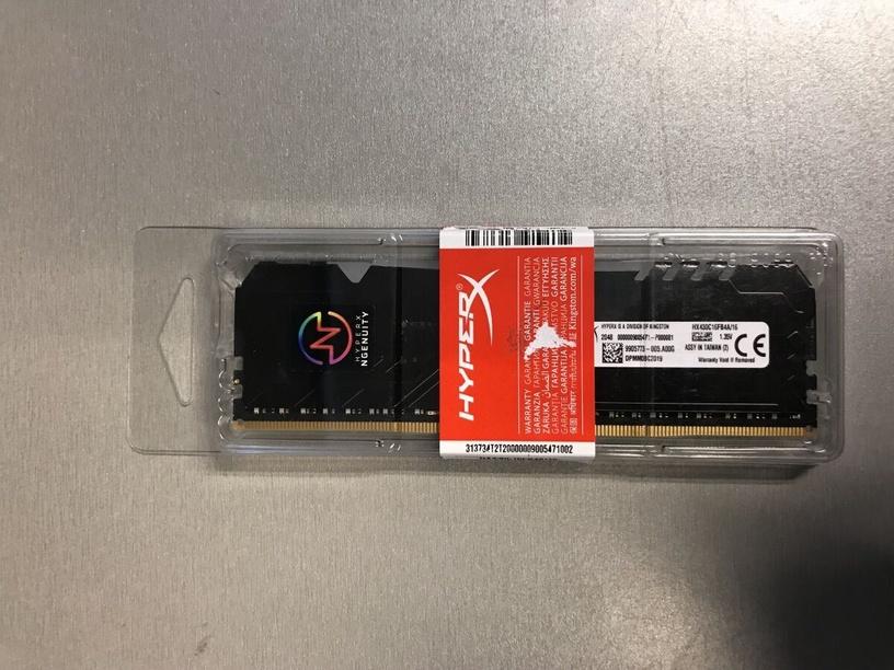Оперативная память (RAM) Kingston HyperX Fury Black RGB MI 17061 BAL DDR4 16 GB CL16 3000 MHz (поврежденная упаковка)