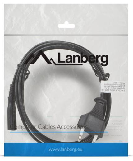 Lanberg Cable IEC320 C7 / Schuko 1.8m Black