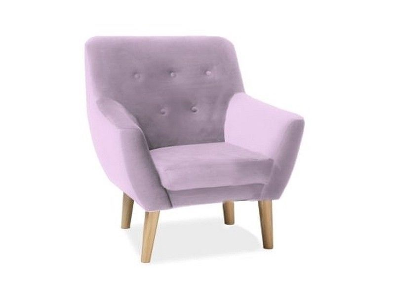 Signal Meble Nordic 1 Velvet Chair Antique Pink