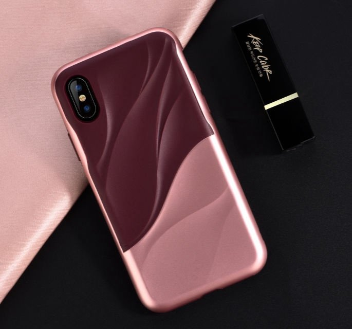 Devia Wave Back Case For Apple iPhone X/XS Pink
