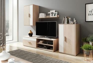 WIPMEB Berno Living Room Wall Unit Set Sonoma Oak/White