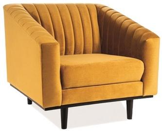 Atzveltnes krēsls Signal Meble Asprey Velvet Bluvel 68 Wenge Curry, 78x60x83 cm
