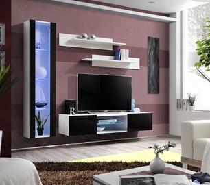 Dzīvojamās istabas mēbeļu komplekts ASM Fly R2 Black/White