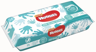 HUGGIES OVER CLEAN MITRĀS SALVETES 56GB