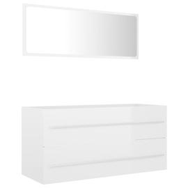 Vannas istabas mēbeļu komplekts VLX 804860, balta, 38.5 x 100 cm x 48 cm