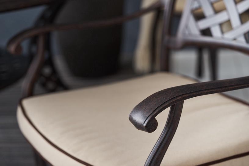 Dārza krēsls Masterjero Garden furniture collection, melna/smilškrāsas, 51x44x94 cm