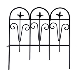 Garden Center Decorative Fence Black 30x30cm