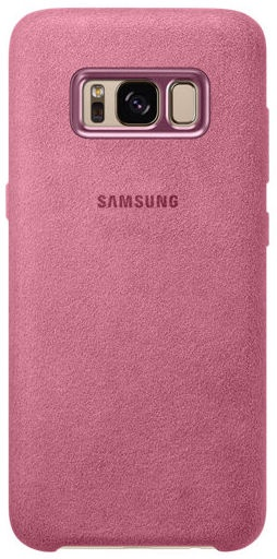 Samsung Alcantara Back Cover For Samsung Galaxy S8 Plus Pink