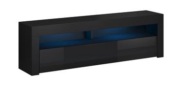TV galds Vivaldi Meble Mex 160, melna, 1600 mm x 330 mm x 500 mm