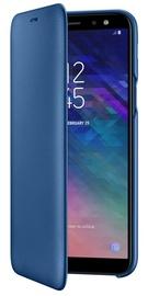 Samsung Galaxy A6 Wallet Case Blue