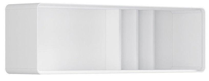 Sienas plaukts Black Red White Possi, balta, 130x30x40 cm