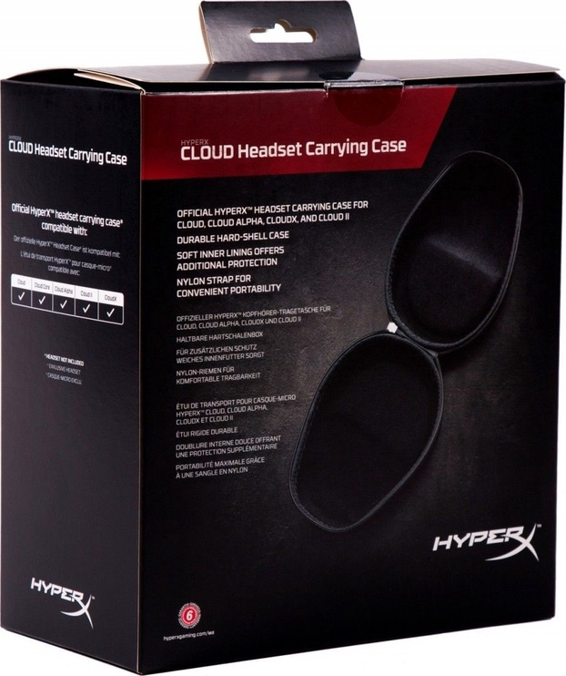 Kingston HyperX Cloud Headset Carrying Case Black