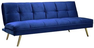 Диван-кровать Signal Meble Moritz Velvet Dark Blue/Gold, 181 x 106 x 88 см