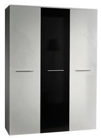 Skapis ASM Big White/Black Gloss, 135x55x190 cm