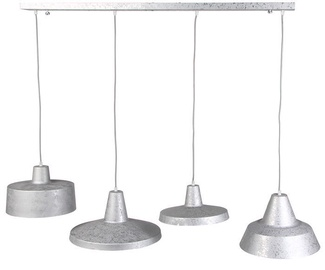 Brilliant Sarge Ceiling Lamp 4x60W E27 Zink