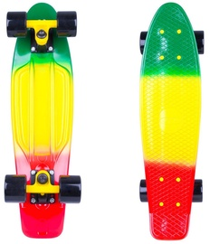 Worker Penny Board Sunbow 22ʺ Green/Yellow/Red