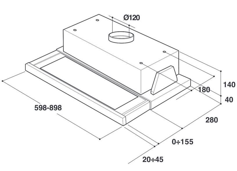 Iebūvēts tvaika nosūcējs Whirlpool AKR 6390IX